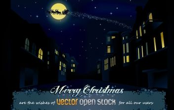 Christmas Night in the City - vector gratuit #176717