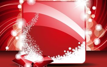 New Year Greeting Card and Gift Box Template - vector #176857 gratis