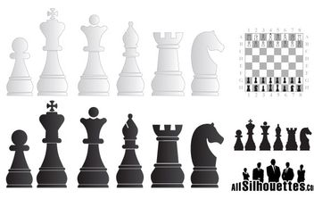 Chess figures - Free vector #176997
