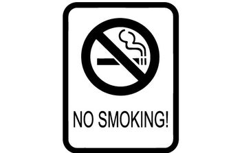 No Smoking Sign clip art - vector gratuit #177037