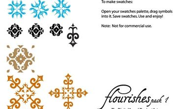 Flourishes free vector pack - Kostenloses vector #177047