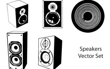 Speakers vector set - vector #177057 gratis