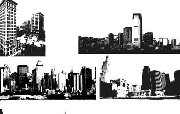 City Skyline Vector Images - vector gratuit #177077