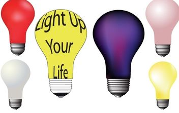Different colour light bulbs free vector - Free vector #177087