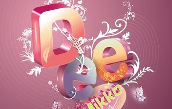 Gorgeous Letter Composition - vector gratuit #177097