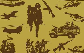 Military free vector pack - Kostenloses vector #177107