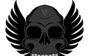 Winged skull free vector - бесплатный vector #177147