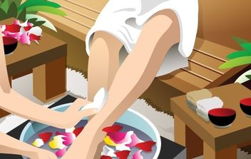 Beautiful girl relax - бесплатный vector #177227