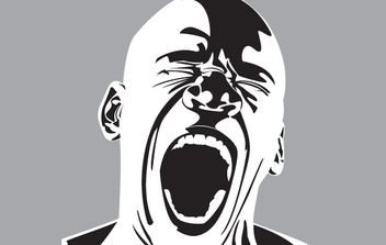 Screaming man free vector - vector gratuit #177237