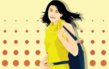 Beautiful Urban Girl - vector gratuit #177297