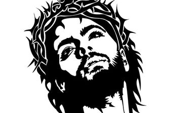 JESUS CHRIST FACE VECTOR IMAGE - бесплатный vector #177407