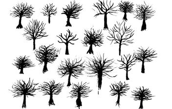 Free Vectors: Ink Trees - Kostenloses vector #177437