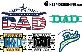 Dad fathers day vectors- free - Free vector #177457