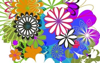 Random Free Vectors Part 7 Flowers - vector gratuit #177487