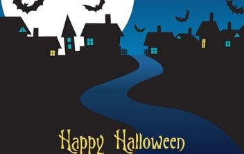 Halloween Night Card Vector - Free vector #177497
