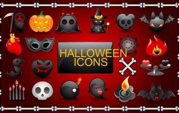 Vector Halloween icons - vector gratuit #177507
