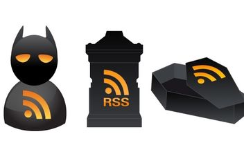 3 Halloween RSS Icons - Free vector #177537