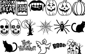 Halloween Vectors Part 2 - vector gratuit #177547