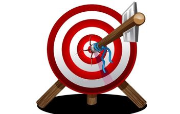 Arrow on target - Free vector #177747