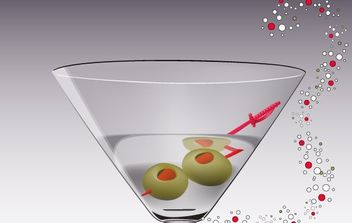 Martini Glass Vector - Free vector #177787
