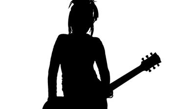 Girl Rocker Silhouette - бесплатный vector #177987