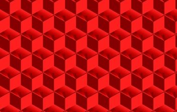 Red Cubed Pattern - Free vector #178087