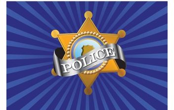 Vector Police Badge - vector gratuit #178137