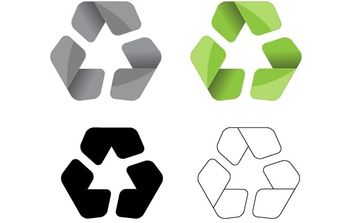 Modern Recycle Symbol Vector - Free vector #178147