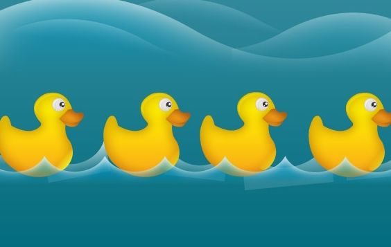Water ducks - vector gratuit #178247