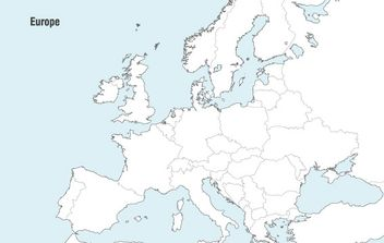 Europe Map Vector - vector #178267 gratis