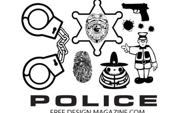 Police Vectors Free Download - vector gratuit #178427
