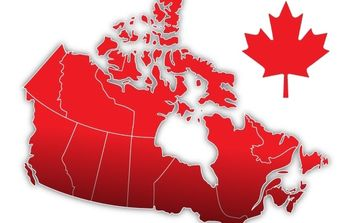Canada Day Vector Map - Free vector #178457