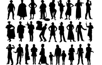 People Silhouette - vector gratuit #178467