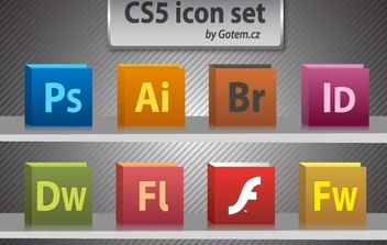 Free CS5 icon pack - vector gratuit #178487