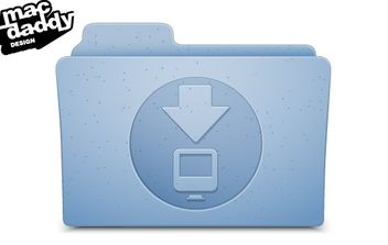 OSX Download Folder - vector gratuit #178497