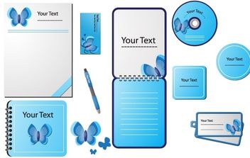 STATIONERY DESIGN VECTORS - vector gratuit #178727