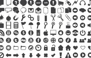 120 free new icons - vector #178777 gratis