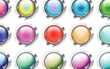 Glassy Buttons Vector - vector #178787 gratis