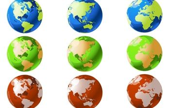 VECTOR WORLD GLOBES - Free vector #178817
