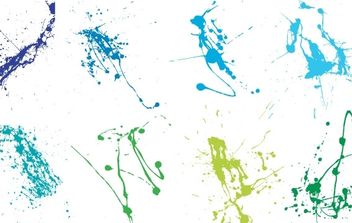 Super Crazy Splatter Vectors - Free vector #178907