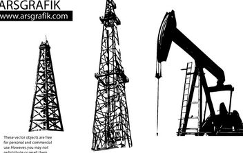 Oil well Vectors - vector gratuit #178937