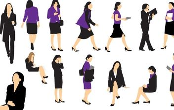 Business Woman Vectors - vector gratuit #178977