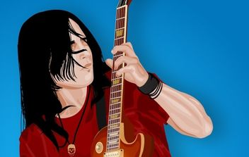 Guitar Player - Free vector #178987