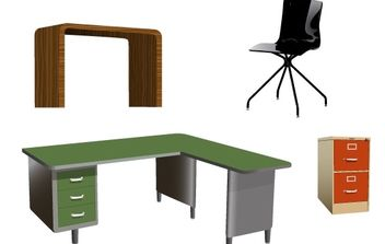 Office furniture Vectors - vector #178997 gratis