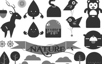 Happy Forest Vector Pack - vector gratuit #179057