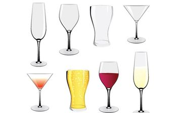Glass Set - Free vector #179087