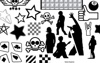 Vector Resources Part 4 - Punk Collection - vector gratuit #179187