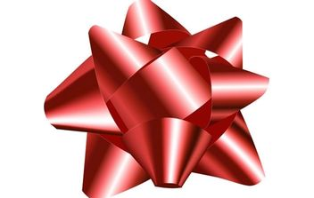 Big Red Bow - vector gratuit #179197