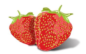 Tasty Strawberries - Free vector #179227