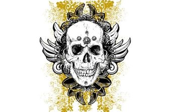 Wicked vector skull illustration - vector #179237 gratis